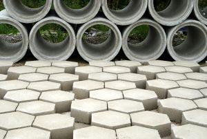 Rura i kostki betonowe